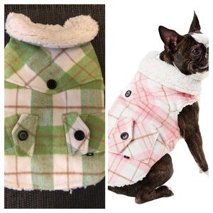 DUKE & DAISY Sherpa Lined Preppy Dog Coat, Small